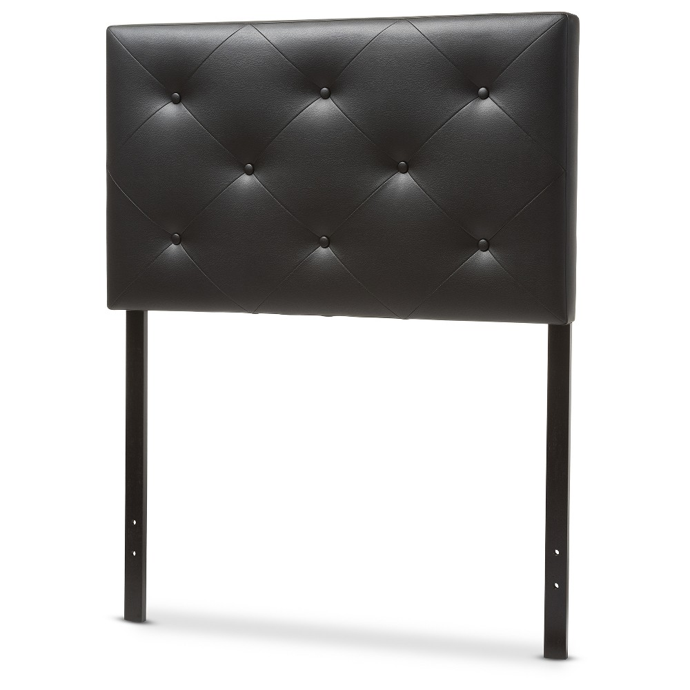 Baltimore Modern And Contemporary Faux Leather Upholstered Headboard Twin Black Baxton Studio