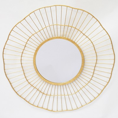 24  Round Spoke Wall Mirror Brass - Opalhouse™
