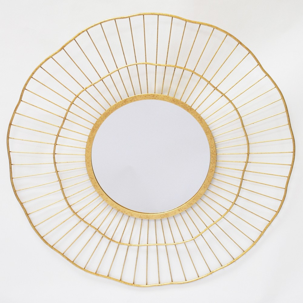 Image of 24 Round Spoke Wall Mirror Brass - Opalhouse, Gold