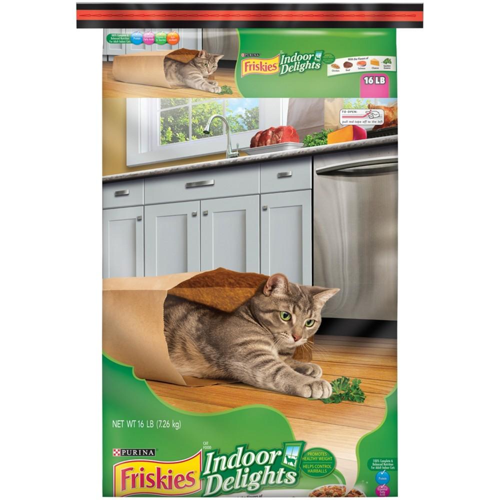 Purina Friskies Indoor Delights Dry Cat Food - 16lb bag