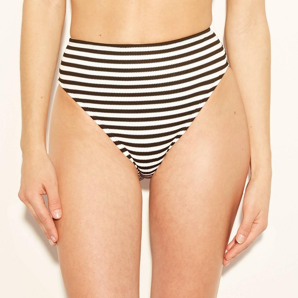 Women's Bikini Swim Bottoms - Shade & Shore Black/white XS