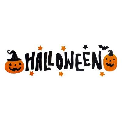 Northlight Black and Orange Halloween Gel Window Clings