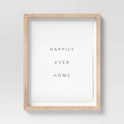 """16"""" x 20"""" Happily Ever Framed Wall Art - Threshold™"""
