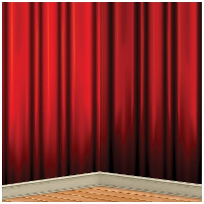 4'x30' Red Curtain Halloween Backdrop