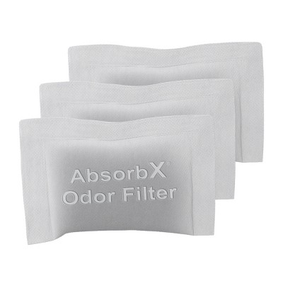 iTouchless AbsorbX Compact Odor Filters 3-Pack