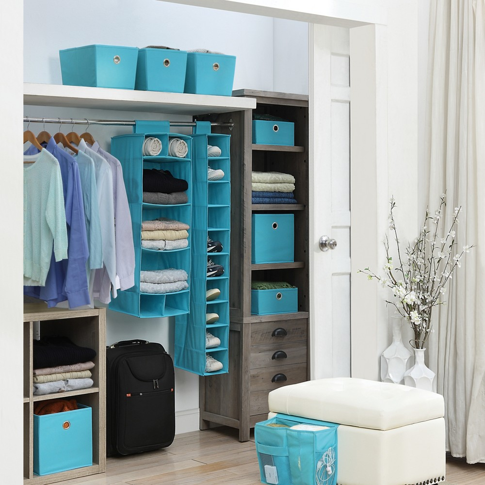 Neu Home Foldable Storage Drawer/Tray 4pc Sky Blue