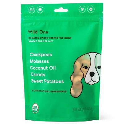 Wild One Organic Veggie Burger Dog Treats - 8oz