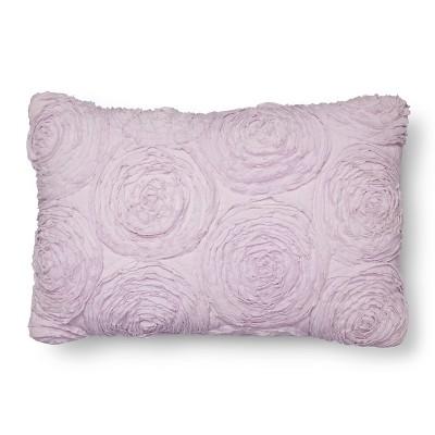 Rosette Throw Pillow (18 x12 )Purple - Pillowfort™