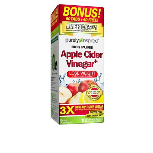 Purely Inspired Apple Cider Vinegar Tablets 100ct Target