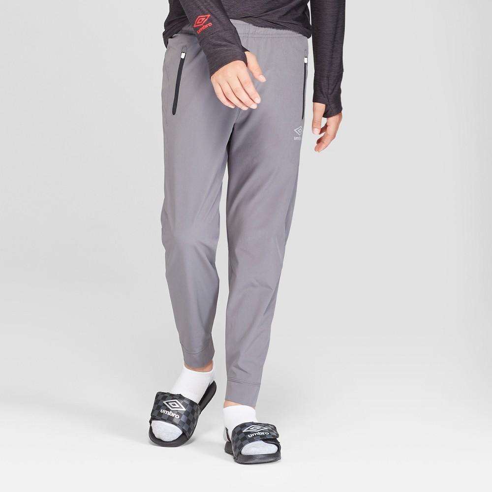 Umbro Boys' Stretch Woven Jogger Pants - Gray S