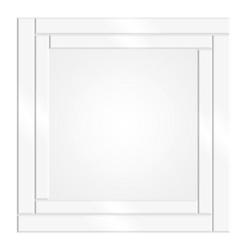 "24""x24"" Etched Geometric Border Square Decorative Wall Mirror Silver - Patton Wall Decor - image 1 of 4"