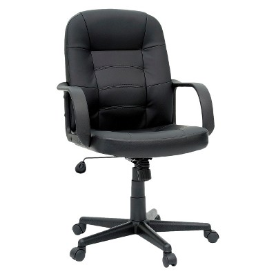 Office Chair Bonded Leather Black - Room Essentials™