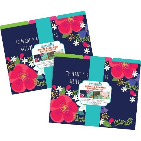 Barker Creek 24ct File Folder Set - Petals & Prickles - image 1 of 4