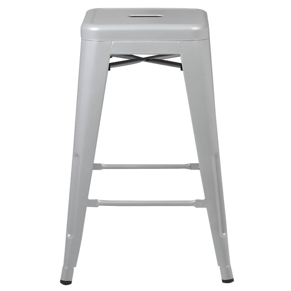 "Image of ""24"""" Franco Industrial Counter Height Stool Gray - Poly & Bark"""