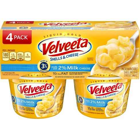 Velveeta 2% Milk Shells & Cheese Cups 2.19 oz 4 pk - image 1 of 4