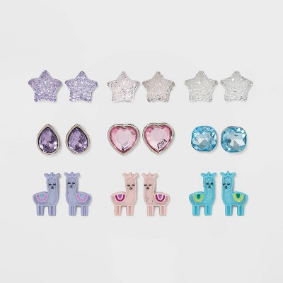 Girls' 9pk Mixed Earring Set - Cat & Jack™