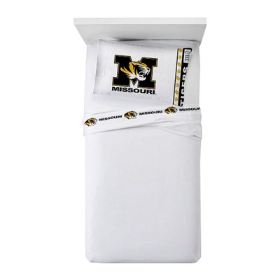 NCAA Missouri Tigers Bed Sheets Set College Football Bedding