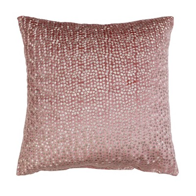 """18""""x18"""" Oyshee Velvet Embroidered Throw Pillow with DTM Back - Décor Therapy"""