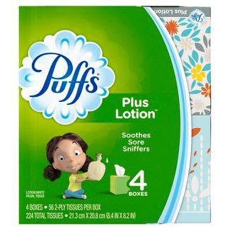 Puffs Plus Lotion Facial Tissue - 4pk