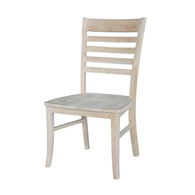 Set Of 2 Roma Ladderback Chair Unfinished   International Concepts