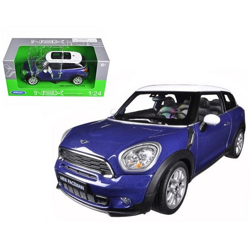 mini cooper s paceman blue 1/24 diecast model carwelly : target