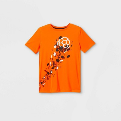Boys' Short Sleeve Soccer Graphic T-Shirt - All in Motion™ Orange