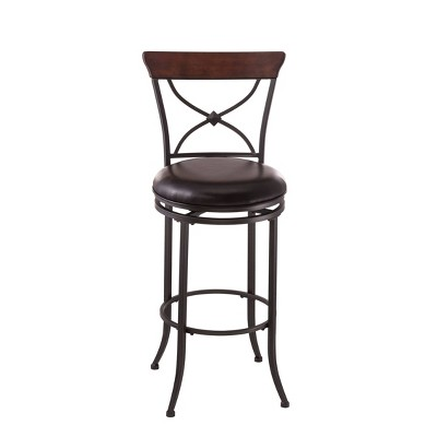 "Cameron Swivel 26"" Counter Height Barstool Metal/Charcoal - Hillsdale Furniture"
