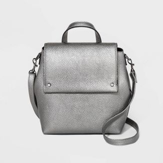 Mini Flap Convertible Backpack - A New Day™ Dark Gray