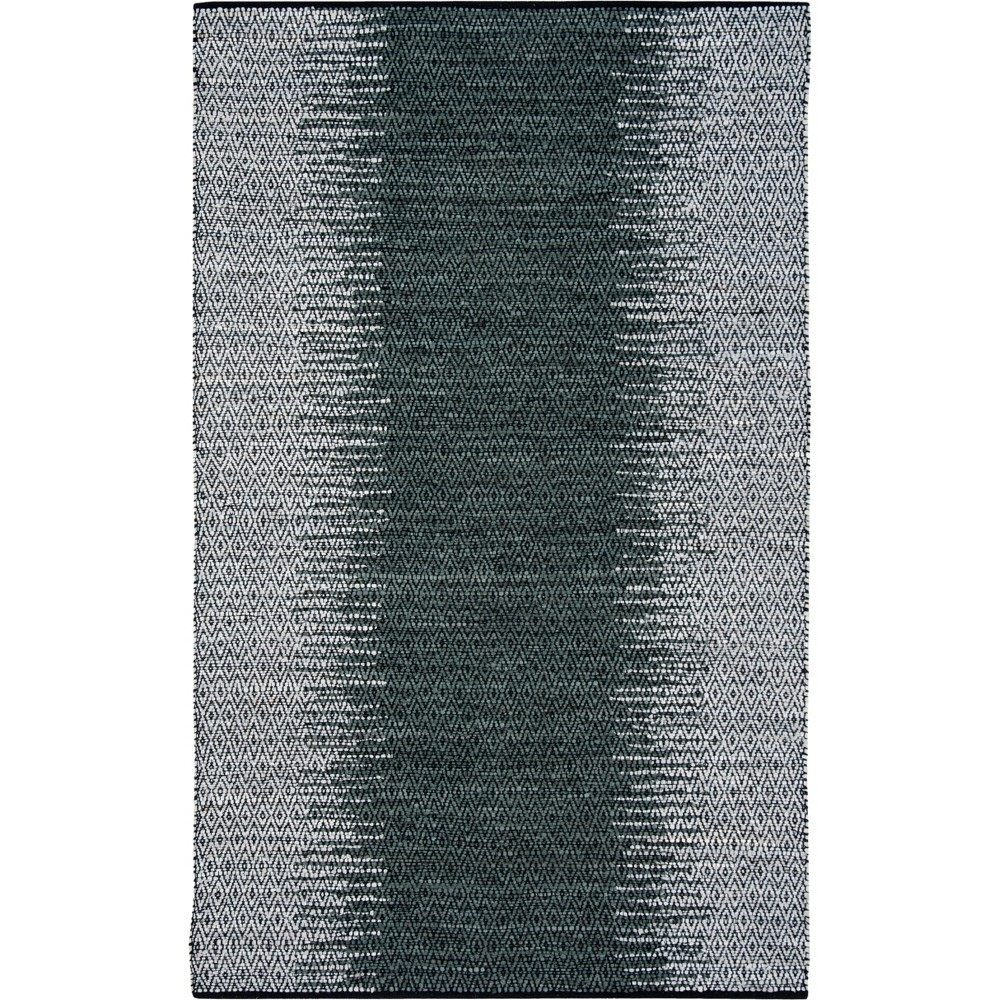 6'X9' Geometric Woven Area Rug Light Gray/Charcoal (Light Gray/Grey) - Safavieh