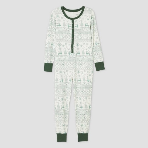 Women's Holiday 'Good Tidings' 1pc Pajama Green - Hearth & Hand™ with Magnolia - image 1 of 2