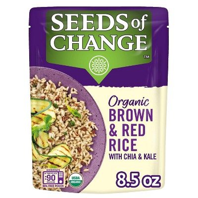 Seeds of Change Organic Brown & Red Rice with Chia & Kale Mix Microwavable Pouch - 8.5oz