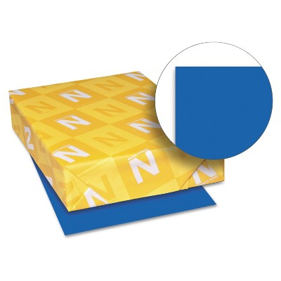 Neenah Paper Astrobrights Colored Card Stock 65 lb. 8-1/2 x 11 Blast-Off Blue 250 Sheets 21911