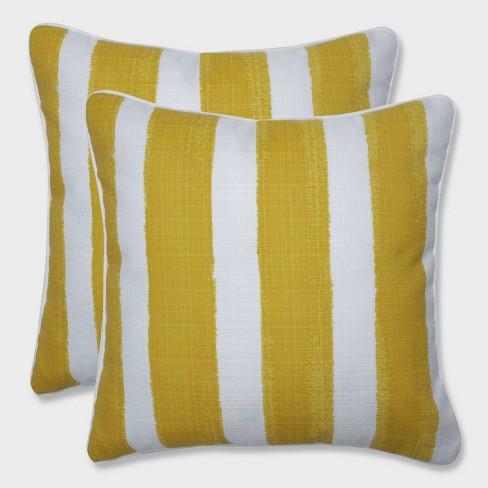 "16.5"" 2pk Nico Pineapple Throw Pillows Yellow - Pillow Perfect - image 1 of 1"