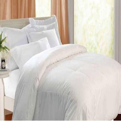 Kathy Ireland Unbleached Cotton Cozy Feather Cover Down Blended Comforter 240 Thread Count - Off White