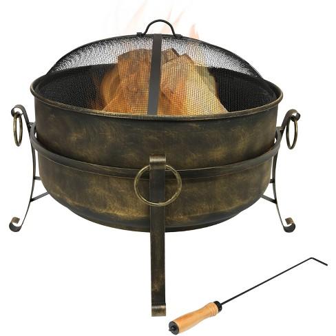 """Cauldron 24"""" Steel Wood Burning Fire Pit Bowl - Round - Sunnydaze Decor - image 1 of 4"""