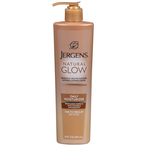 Jergens Natural Glow Daily Moisturizer Fair/Medium - 10oz - image 1 of 4