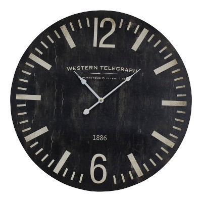 VIP Home Garden 23 x1.5 x23  Wall Clock 23  Black