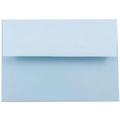 JAM Paper A6 Invitation Envelopes 4.75 x 6.5 Baby Blue 155626