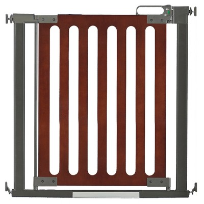 Qdos Spectrum Baby Safety Gate - Pressure Mount - Mahogany