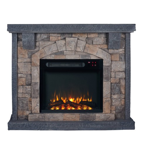 45 Freestanding Electric Fireplace Pewter Home Essentials Target