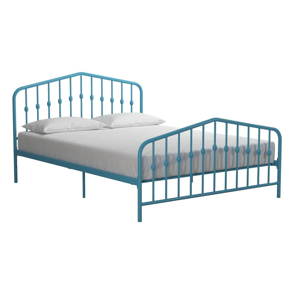 Image of Full Bushwick Metal Bed Sea Blue - Novogratz