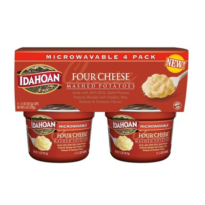 Idahoan Four Cheese Mashed Potato Cups - 6oz/4pk