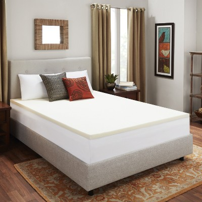 "2"" Memory Foam Mattress Topper Beige - Sleep Studio"