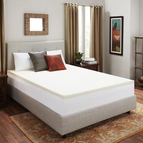 2 Memory Foam Mattress Topper Beige Authentic Comfort Target