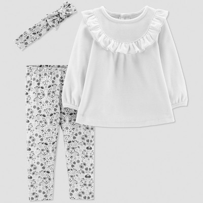 Baby Girls' 3pc Velour Set - Just One You® made by carter's Lilac 3M