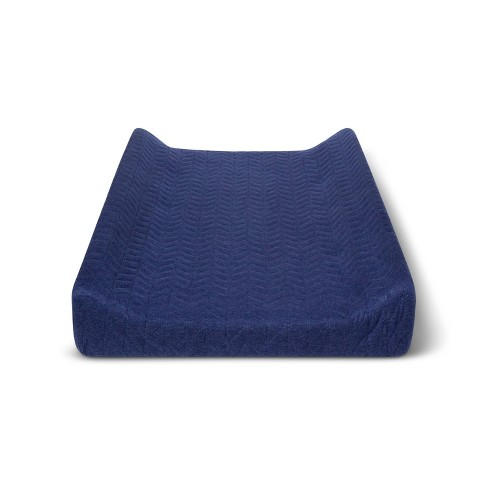 Changing Pad Cover Navy Chevron - Cloud Island™ Navy - image 1 of 2