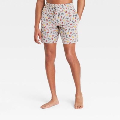 Men's Stranger Things Pajama Shorts - Heather Gray