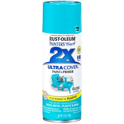 Rust-Oleum 12oz 2X Painter's Touch Ultra Cover Gloss Spray Paint Aqua