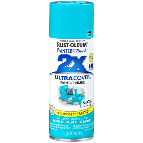 Rust-Oleum 12oz 2X Painter's Touch Ultra Cover Gloss Spray Paint Aqua - image 1 of 3