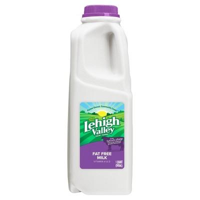 Lehigh Valley Skim Milk - 1qt